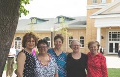 Pictured (left to right): Sue Postle, Deb Nevins, Peggy Wilson, Judith Schellhammer, and Lisa Gravel. (Not Pictured: Lois Knape, Deborah Zeiler, Debra Reister, Rebecca Miller, Theresa Martin)